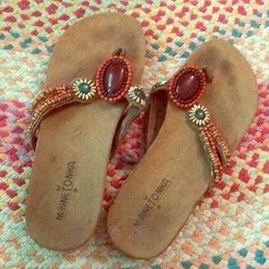 Beaded Minnetonka sandals